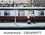 sheringham  uk   april 21  2019 ...   Shutterstock . vector #1381600577