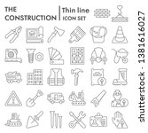 construction thin line icon set ... | Shutterstock .eps vector #1381616027