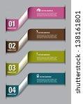 modern vector numbered banners. ... | Shutterstock .eps vector #138161801