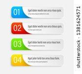 gradient infographics banners.... | Shutterstock .eps vector #1381624571
