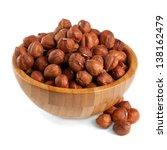 Hazelnuts In A Wooden Bowl...