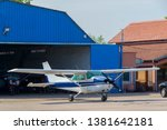 small aircraft on private...   Shutterstock . vector #1381642181