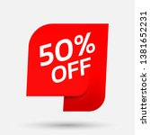 discount with the price is 50.... | Shutterstock .eps vector #1381652231