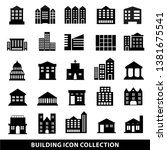 25 set of public building icon  ... | Shutterstock .eps vector #1381675541
