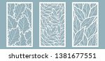 set. leaves  oak  rowan  ash.... | Shutterstock .eps vector #1381677551