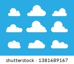 Set Of Cloud Icons In Flat...
