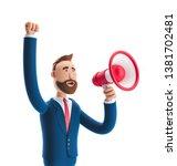 cartoon character billyshouting ... | Shutterstock . vector #1381702481