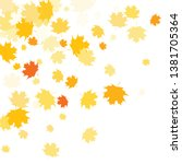 confetti of multicolored leaves ... | Shutterstock .eps vector #1381705364