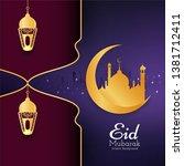 abstract islamic eid mubarak... | Shutterstock .eps vector #1381712411
