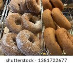 sugar coated  yeast donuts for...   Shutterstock . vector #1381722677