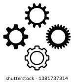 gear icon symbol set. vector... | Shutterstock .eps vector #1381737314