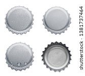 collection of various bottle... | Shutterstock . vector #1381737464