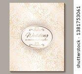 luxury gold vintage wedding...   Shutterstock .eps vector #1381753061