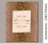 luxury gold vintage wedding...   Shutterstock .eps vector #1381754261
