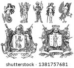heraldry in vintage style.... | Shutterstock .eps vector #1381757681