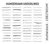 handmade collection set of... | Shutterstock .eps vector #1381760144