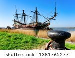 Replica of Dutch tall ship the Batavia. It was rebuilt after the original that sank in 1628.