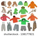 collection of warm children's... | Shutterstock . vector #138177821