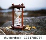 sand running through the shape... | Shutterstock . vector #1381788794