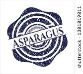 blue asparagus distress rubber...   Shutterstock .eps vector #1381819811