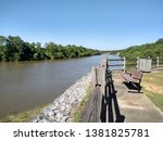 beautiful picture of the black warrior River in moundville, Alabama