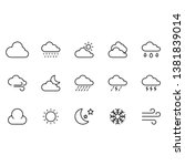 weather icons set  illustration ... | Shutterstock .eps vector #1381839014