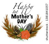 happy 1st mother s day animal... | Shutterstock . vector #1381841057