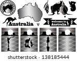 Australia Labels In Woodcut...