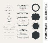 vintage premium label... | Shutterstock .eps vector #1381884911