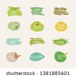 organic labels and natural... | Shutterstock .eps vector #1381885601