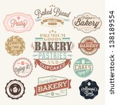 vintage retro bakery badges and ... | Shutterstock .eps vector #138189554