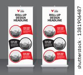 roll up banner design template  ... | Shutterstock .eps vector #1381906487