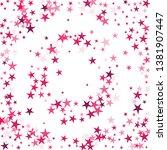 falling stars confetti... | Shutterstock .eps vector #1381907447