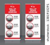 roll up banner design template  ... | Shutterstock .eps vector #1381910291