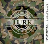 turk on camo pattern. vector... | Shutterstock .eps vector #1381916171
