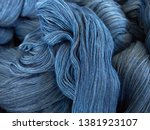 Indigo Dyed Cotton Is Blue Color
