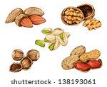 drawing of peanuts and nuts ... | Shutterstock .eps vector #138193061