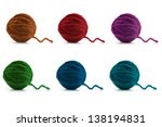 Multi Colored Balls Of Wool On...