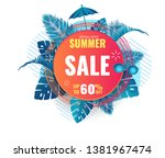 summer abstract sale banner up... | Shutterstock .eps vector #1381967474