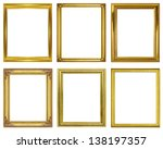 set golden frame isolated on... | Shutterstock . vector #138197357