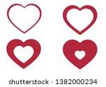 linear heart icon  vector...   Shutterstock .eps vector #1382000234