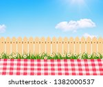 picnic outdoor  spring bloom... | Shutterstock . vector #1382000537