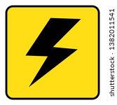 high voltage icon.high voltage... | Shutterstock .eps vector #1382011541