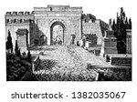 street of tombs at pompeii ... | Shutterstock .eps vector #1382035067