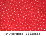 Gold Stars On Red Background...