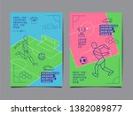 template sport layout design ... | Shutterstock .eps vector #1382089877