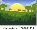 vector farming illustration.... | Shutterstock .eps vector #1382091494
