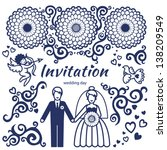 vector set for wedding... | Shutterstock .eps vector #138209549