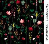 dark night blooming botanical... | Shutterstock .eps vector #1382098757