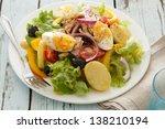 Nicoise Salad Over Wood...